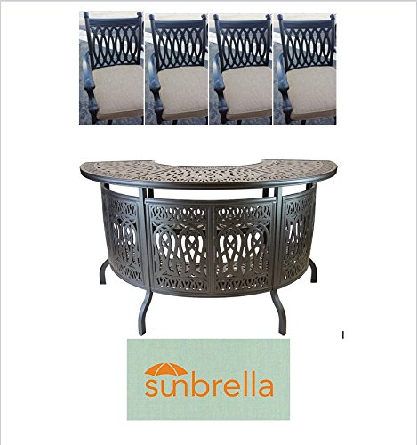 (Grand TuscanyOutdoor Patio 5pc Party Bar Set Dark Bronze Cast)