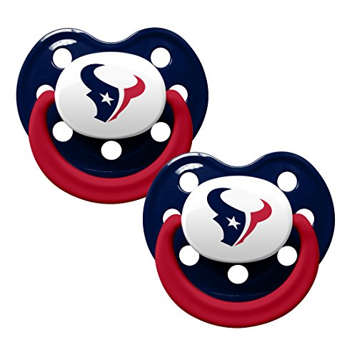 NFL Football 2014 Baby Infant Pacifier 2-Pack - Pick Team (Houston Texans - Holes)