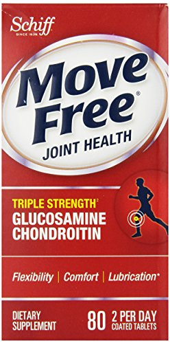 Déplacez Force gratuit Triple glucosamine chondroïtine et l'acide hyaluronique Supplément mixte, 80 comte