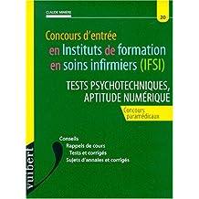 Concours d'entrée en instituts de formation en soins infirmiers (ifsi) - tests psychotechniques, aptitude numérique