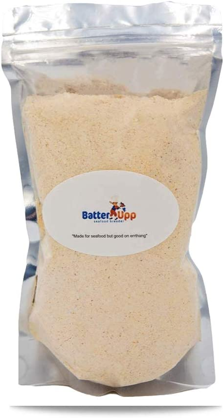 Batterupp , Atlanta's Best Restaurant Grade Seafood breading ,Seasoned Coating Mix Great For Seafood ,Chicken ,Fish ,Pork And Vegetables. A Delicious And Crispy Deep Fryer And Air Fryer Batter.