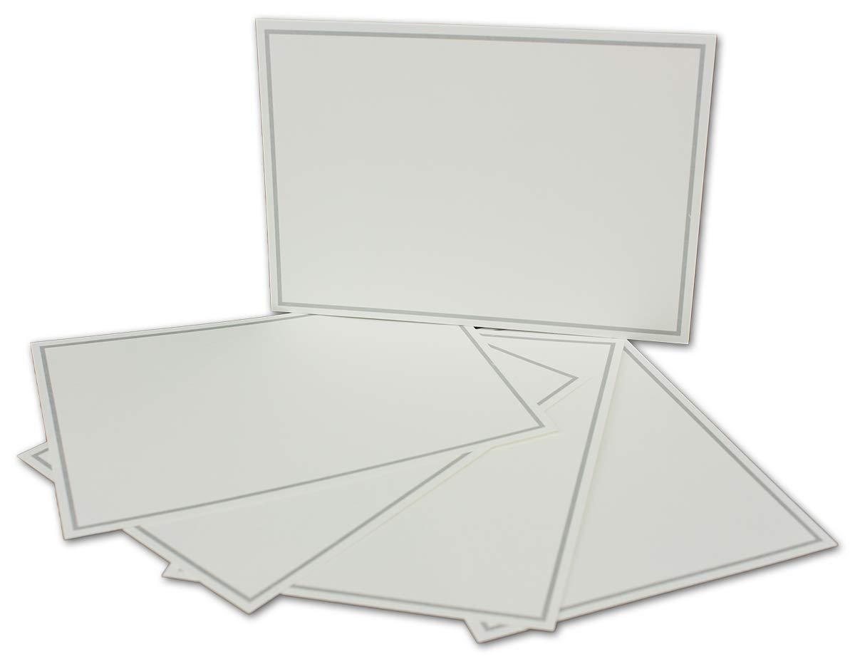 Postkarten-Einfachkarte-DIN A6-240 g m² - Natur-Weiss-Creme mit Rahmen in Hellblau - 200 Stück - Premium QUALITÄT - 10,5 x 14,8 cm - Ideal für Grußkarten und Einladungen - NEUSER FarbenFroh B07JPDPYPN | Verwendet in der Haltbarke