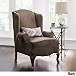 LEIGE Stretch Shorty Studio Sized Wing Chair Slipcover Set Furniture Protector