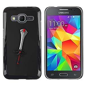 Caucho caso de Shell duro de la cubierta de accesorios de protección BY RAYDREAMMM - Samsung Galaxy Core Prime SM-G360 - Fantasy Sword