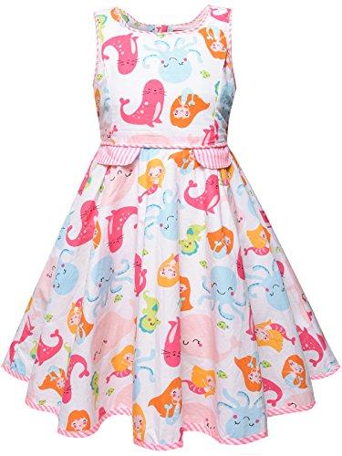 Bonny Billy Toddlers Baby Girls Cartoon Dress 2-3t Mermaid