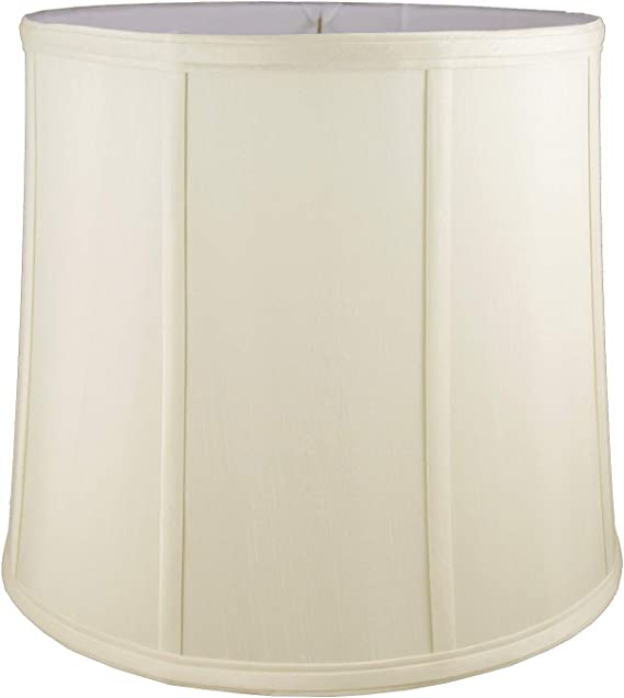 Eggshell American Pride 6x 17x 9.5 Round Soft Shantung Tailored Lampshade
