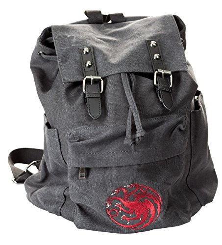Price comparison product image Game of Thrones Canvas Backpack (Targaryen)