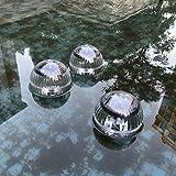 Uonlytech Solar Powered Water Float Light Pond