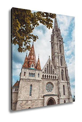 Ashley Canvas Matthias Church Roman Catholic Budapest Hungary Fishermans Bastion Castle, Home Office, Ready to Hang, Color 25x20, AG5402254 by Ashley Canvas