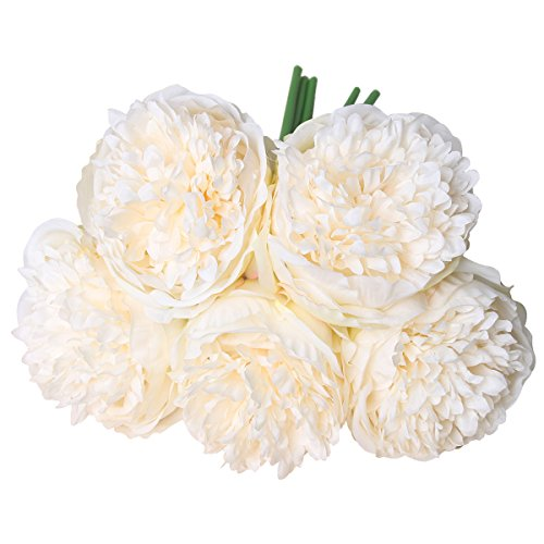 StarLifey Silk Roses Artificial Flowers Wedding Decoration Spring Simulation Flowers (White)