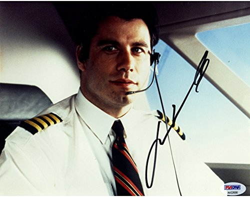 John Travolta Signed Look Who's Talking Pilot 8x10 Photograph - PSA/DNA Certified