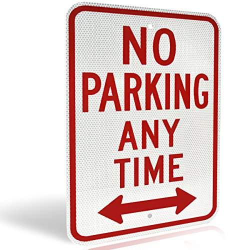 no-parking-anytime-aluminum-metal-sign-with-arrow-for-private-driveway-and-streets-diamond-grade-ult