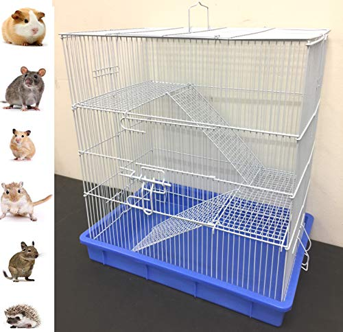 New 3 Story Hamster Rat Mice Mouse Guinea Pig Degu Animal Cage (Blue)