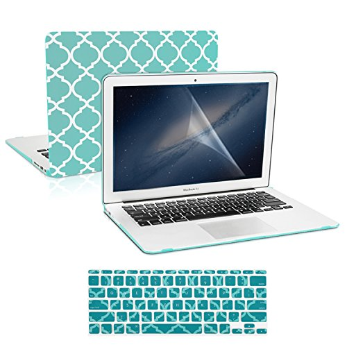 TopCase Quatrefoil Turquoise Rubberized Protector