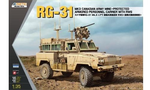Kinetic KIN61010 1:35 RG-31 Mk 3 Canadian Mine-Protected Armored Personnel Carrier with RWS [MODEL BUILDING KIT] ()