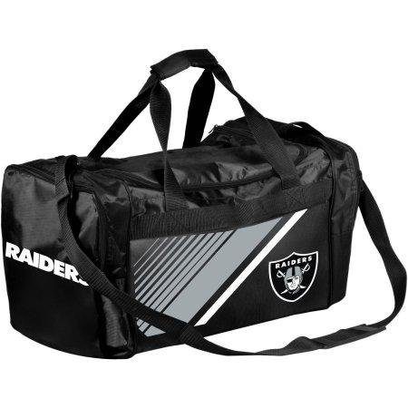 Forever Collectibles NFL Oakland Raiders Border Stripe Duffle - Bag Raiders