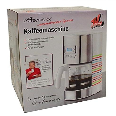 TV Werbung Kaffeemaschine Timer 10Tassen Coffeemaxx Streifendesign  Kaffeeautomat
