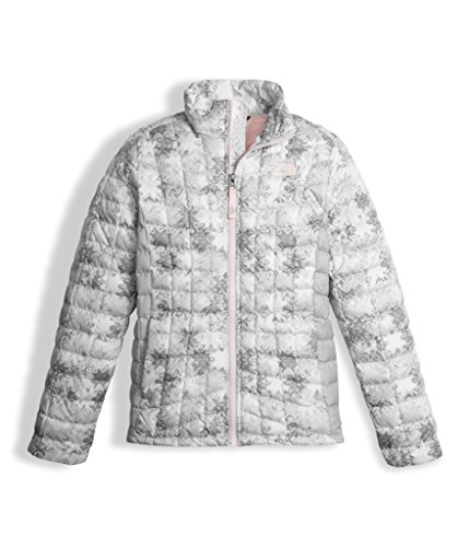 The North Face Girls Thermoball Full Zip Jacket White Snowflake (Medium) by The North Face