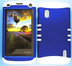 LG NEXUS 4 CASE BLUE WH-A008-IC HEAVY DUTY HIGH IMPACT HYBRID COVER WHITE SILICONE SKIN E960