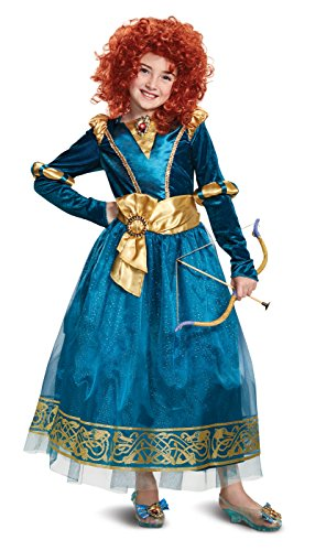 Disguise Merida Deluxe Child Costume, Green, -