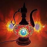 Teapot - Turkish Moroccan Lamp Tiffany Style Glass Desk Table Lamp - MC