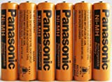 Panasonic NiMH AAA Rechargeable Battery for Cordless Phones x six 6 aaa 700 mah 1.2v batteries, Office Central
