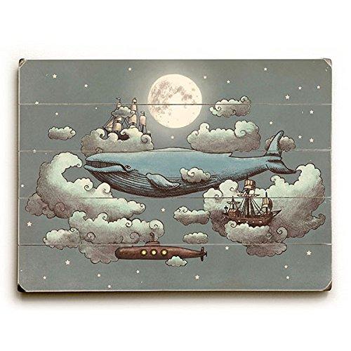 Planked Sign Vintage Wood - Ocean Meets Sky by Artist Terry Fan 30
