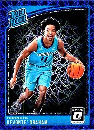 c2d6f3b0cdb3 2018-19 Donruss Optic Blue Velocity  189 Devonte  Graham Rated Rookie  Charlotte Hornets