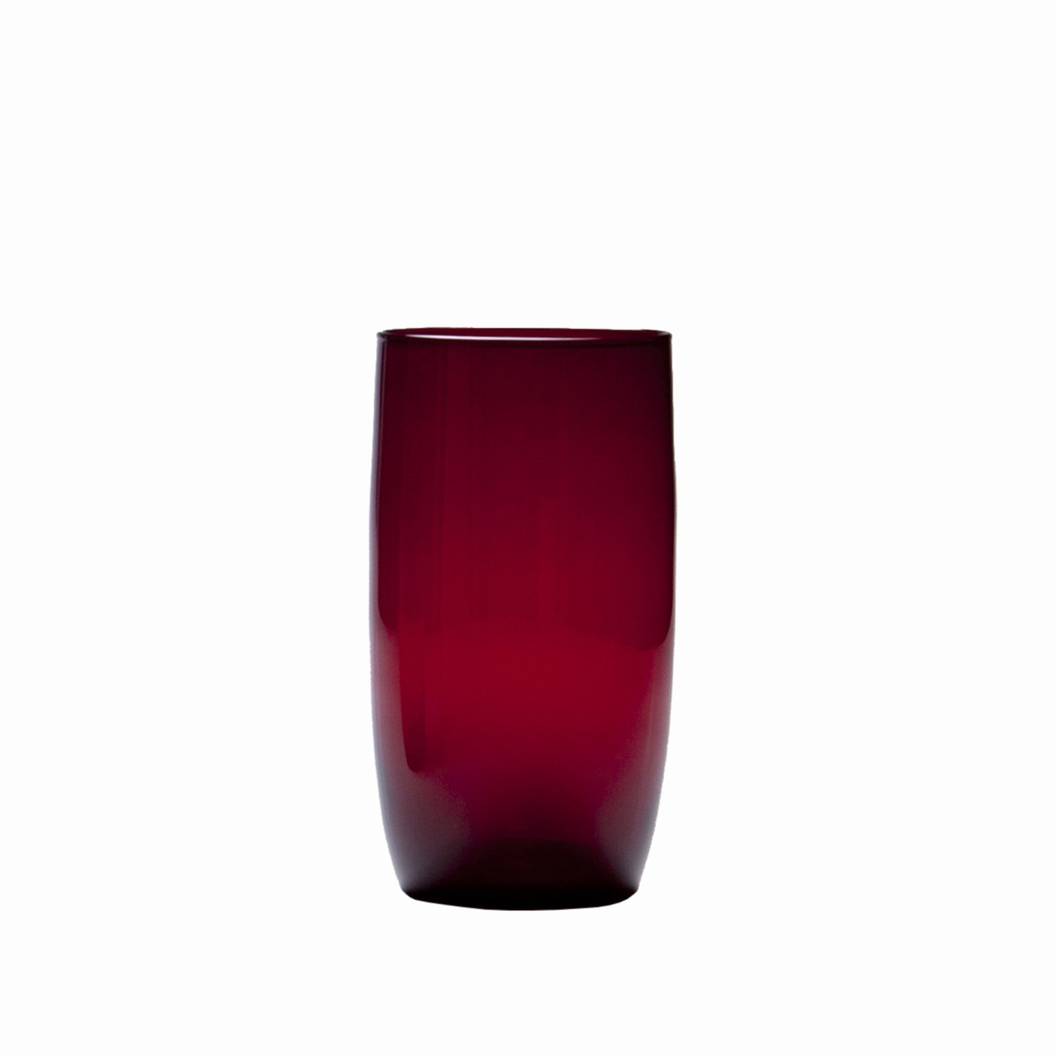 D&V Glass Gala Collection Iced Beverage/Cocktail Glass 19 Ounce, Ruby Red, Set of 12
