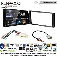 Volunteer Audio Kenwood DDX9904S Double Din Radio Install Kit with Apple CarPlay Android Auto Bluetooth Fits 2012-2014 Subaru Impreza