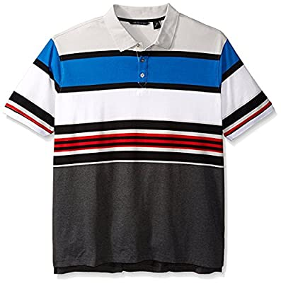 Sean John Men's Big & Tall Short-Sleeve Core Stripe Polo Shirt