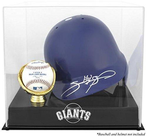 Baseball Batting Helmet Display Case (San Francisco Giants Batting Helmet with Ball Holder Logo Display Case)