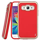Core Prime Case, G360 Case, DGtle [Drop Protection] Armor Hybrid Defender Shockproof Protective Case Cover For Samsung Galaxy Core Prime (Gold + Red)