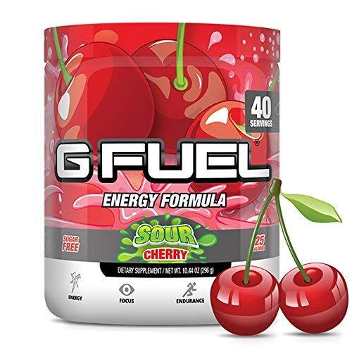 G Fuel Sour Cherry Tub 10.44 oz (40 Servings) Elite Energy and Endurance Formula by G Fuel