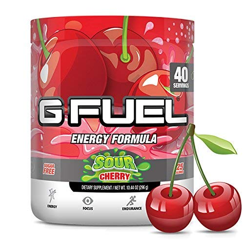 G Fuel Sour Cherry Tub 10.44 oz (40 Servings) Elite Energy and Endurance Formula (G Fuel Flavors)