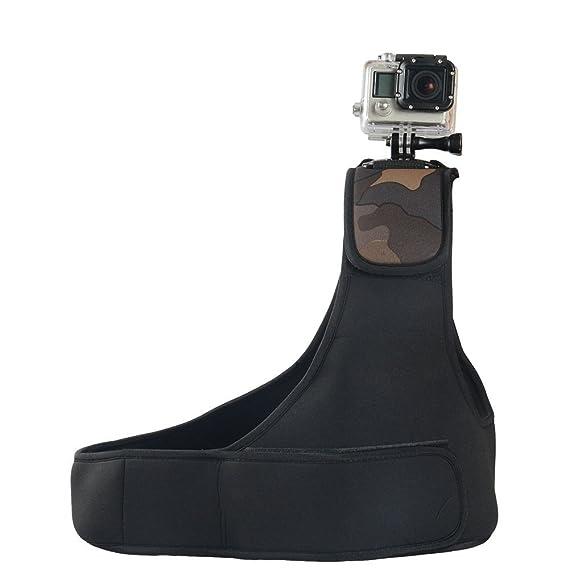 Navitech Verstellbare Neopren-Einzel-Schulterriemen Harness für GoXtreme BlackHawk 4K Action Camera