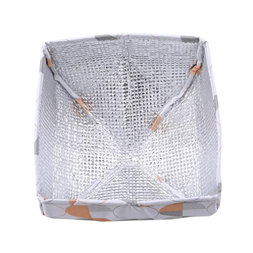 EH-LIFE Food Cover Keep Warm Foldable Aluminum Foil Vegetable Cover Dishes Kitchen Dust-proof Insulation Cover Small White Round 3# by EH-LIFE (Image #3)