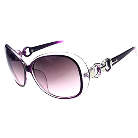 33ed8c034a Newin Star Sunglasses Women Sun Shades Oversized Eyewear Classic Designer  Sunglasses UV 400 Prevention Sunglasses Purple  Amazon.co.uk  Sports    Outdoors