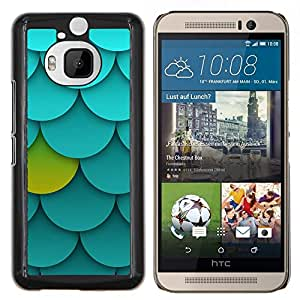 - palmette pattern green blue unique - - Modelo de la piel protectora de la cubierta del caso FOR HTC One M9+ / M9 PLUS RetroCandy