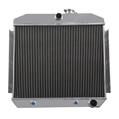 (OzCoolingParts 55-57 Chevy Radiator, 4 Row Core All Aluminum Radiator for 1955-1957 1956 Chevy Bel-Air, Del Ray, Nomad, One-Fifty & Two-Ten Series, L6 V8)