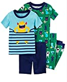 Carter's Boys' 6M-12 4 Piece Party Monster Pajama Set 18 Months