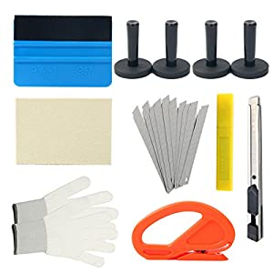 8milelake 7 Kinds of Car Vinyl Wrap Tool Window Tint Kit for Auto Film Tinting Scraper Application Installation