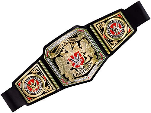 WWE The United Kingdom Championship UK Wrestling World Heavyweight Toy Title Belt - Made By Mattel Accessories Fancy Fress Up Costume Cosplay -