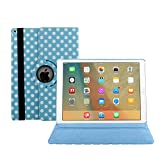 2017 iPad 9.7 Case Cover,Dream Wings 360 Degrees Rotating Multi Angles Colorful Screen Protective Flip Folio Stand Smart Case Cover for Apple New iPad 2017 9.7 inch Tablet (2017 New iPad, Blue)