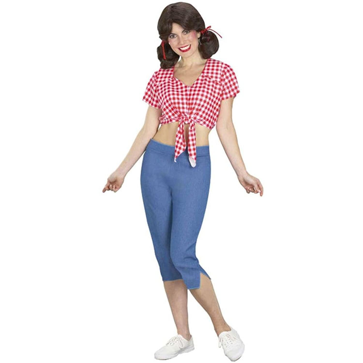 Amazon.com: Adult Mary Ann Costume (Size: Standard 8-12): Clothing