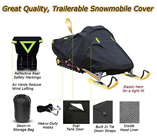 Trailerable Snowmobile Snow Machine Sled Cover Yamaha SRX 700 1998 1999 2000 2001 2002 2003 by SBU (Image #2)