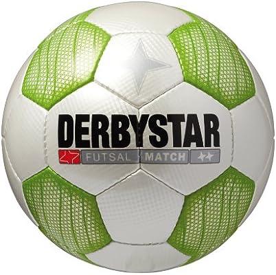 Derbystar Futsal Match - Balón de fútbol, Talla 4 Blanco Verde ...