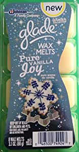Glade Wax Melts, Pure Vanilla Joy, 8 Wax Melts (Pack of 3)