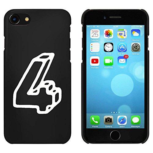 Noir 'Numéro 4' étui / housse pour iPhone 7 (MC00089424)