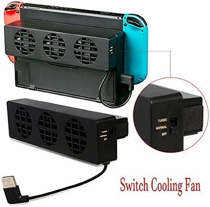 BKAUK Ventilador de refrigeración para Switch NS Original Stand ...
